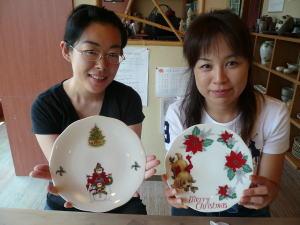 クリスマスプレート作り