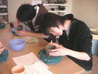 休日陶芸の風景