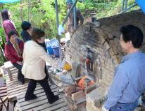 信州での薪窯焼成